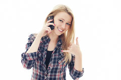 Young woman with mobile phone Stock Photo