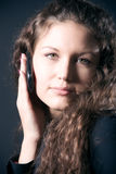 Young woman with mobile phone Royalty Free Stock Photography