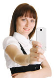 Young woman with a mobile phone Royalty Free Stock Photos