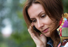 Young woman mobile phone Stock Image
