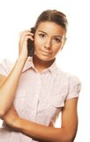 Young woman on mobile phone Royalty Free Stock Photo