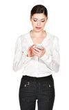 Young woman with mobile phone Stock Image