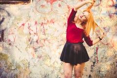 Young Woman model outdoor Urban Stock Photos
