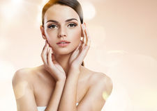 Young woman model, youth and skin care concept Royalty Free Stock Photo