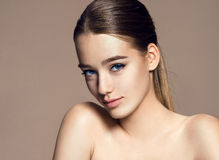 Young woman model, youth and skin care concept Stock Images