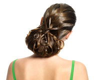 Young woman modern creative hairstyle Royalty Free Stock Photos