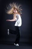 Young woman modern dancer Stock Images