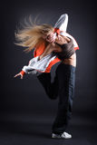 Young woman modern dancer Royalty Free Stock Photos
