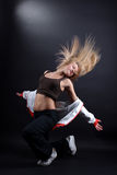 Young woman modern dancer Stock Photography
