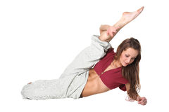 Young woman modern dancer in action Royalty Free Stock Images
