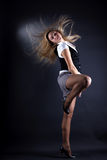 Young woman modern dancer in action Royalty Free Stock Photo