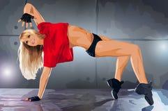 Young woman modern dancer Stock Photos