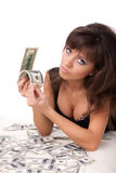 Young woman with money. Stock Photography