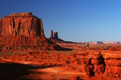 Young woman at Monument Valley Stock Image