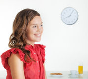 Young woman in the morning Royalty Free Stock Images
