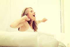 Young woman in the morning Royalty Free Stock Photo