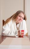 Young woman morning cofee Stock Image