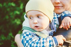 Young Woman Mother Hugging Her Baby Son Royalty Free Stock Photos