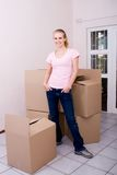 Young woman moving Stock Photography