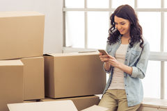 Young woman moving Stock Photos
