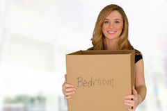 Young woman moving in Royalty Free Stock Image