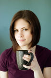 Young woman with mug Royalty Free Stock Photography