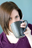 Young woman with mug Royalty Free Stock Photos