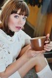 Young woman with mug royalty free stock image