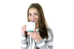 Young woman with mug Stock Image