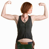 Young Woman with Muscles Royalty Free Stock Photo