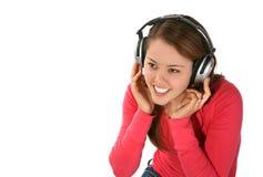 Young Woman, Music Headphones Stock Photos