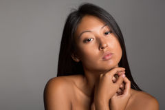 Young woman with naked shoulders Royalty Free Stock Photo
