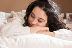 Young woman napping Royalty Free Stock Images