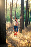 Young woman in national ukrainian clothes on the Stock Photo
