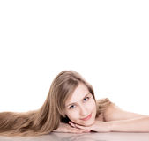 Young woman natural beauty portrait Royalty Free Stock Photo