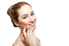 Young woman with natural make up Stock Photos