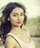 Young woman natural outdoor Royalty Free Stock Images