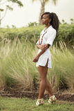 Young woman in nature. Fashionable young woman in nature Royalty Free Stock Photos