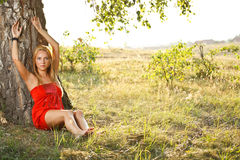 Young woman in nature Royalty Free Stock Image