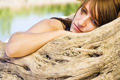 Young woman in nature Royalty Free Stock Photo