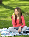 Young woman in nature is my hobby Stock Photos