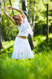 Young woman nature relax Stock Image