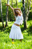 Young woman nature relax Stock Images