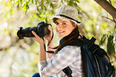 Young woman nature Stock Images