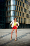 Young woman near office building Stock Photos