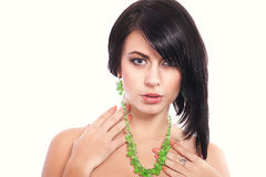 Young woman with a necklace Royalty Free Stock Photo