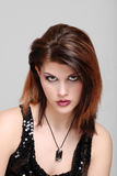 Young woman with necklace portrait Royalty Free Stock Photos