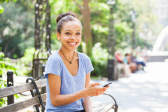 Young Woman in New York Stock Photography