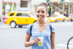 Young Woman in New York Stock Image