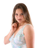 Young woman in nightdress Royalty Free Stock Photos